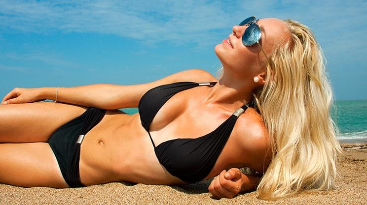 Sonnenbaden ist gesund