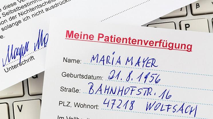 Patientenverfügung muss unbedingt präzise formuliert sein