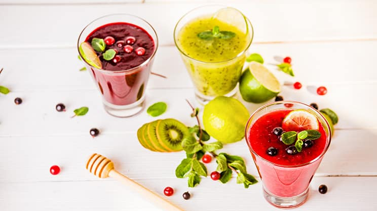 Cranberry Kiwi Smoothie mit Orangensaft