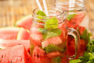 Melonen Smoothie mit frischer Minze
