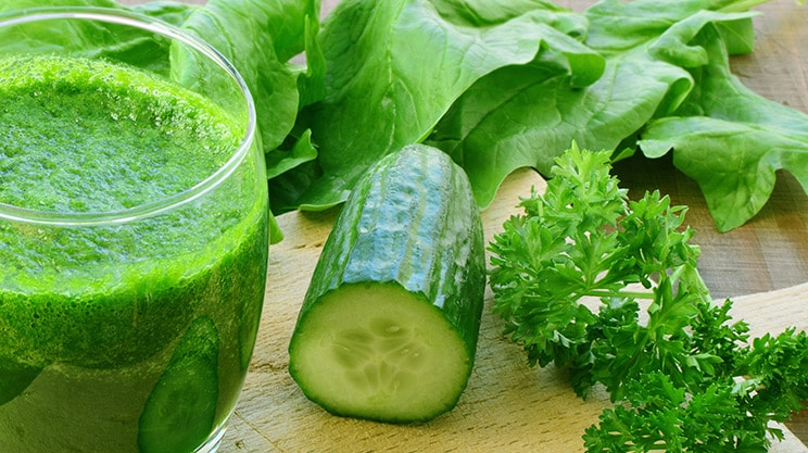 Grüner Vital-Smoothie