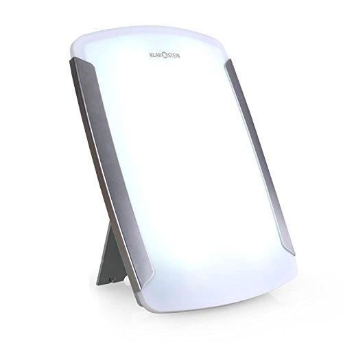 Klarstein 3MC Tageslichtlampe Lichttherapie kaltweiß (10000 Lux, medizinische CE-Zertifizierung als Wohlfühlleuchte gegen Winterdepression, 35 x 48 cm Lichtfläche)